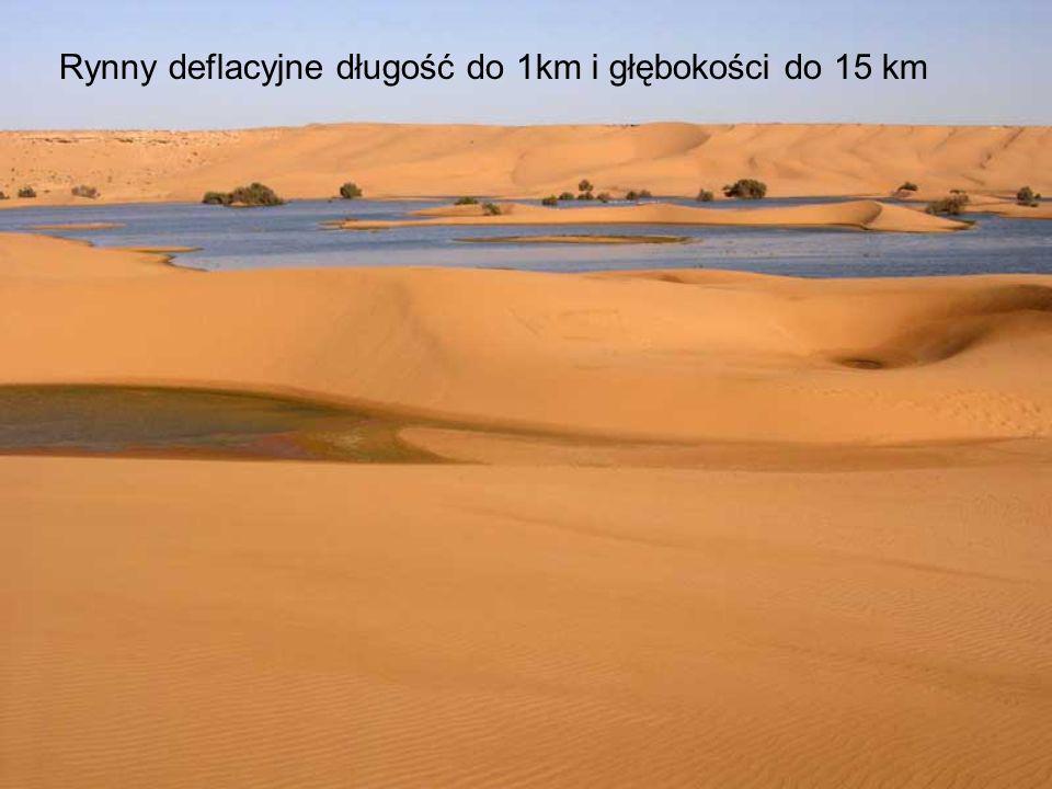 Rynny deflacyjne długość do 1km i głębokości do 15 km