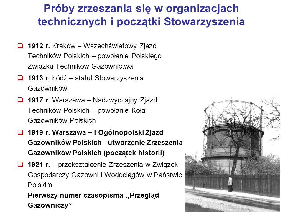 2 Próby zrzeszania się w organizacjach technicznych i początki Stowarzyszenia  1912 r. Kraków – Wszechświatowy Zjazd Techników Polskich – powołanie P