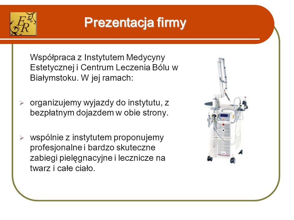Prezentacja firmy Współpraca z Instytutem Medycyny Estetycznej i Centrum Leczenia Bólu w Białymstoku.