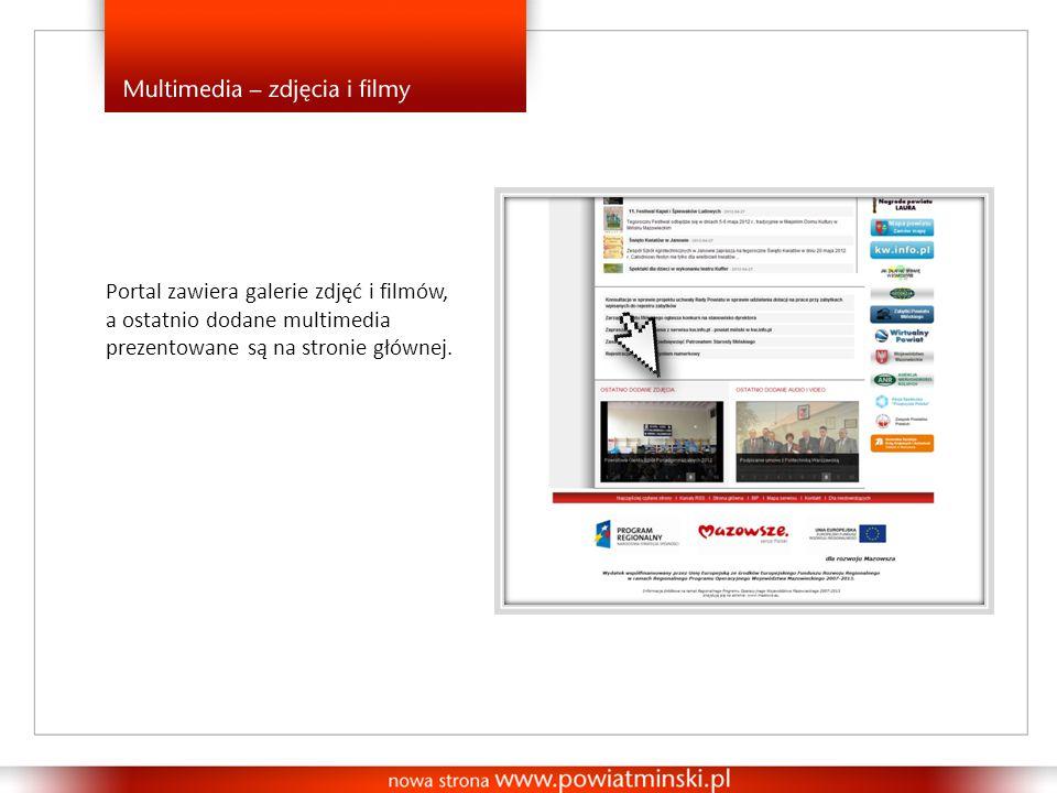Portal zawiera galerie zdjęć i filmów, a ostatnio dodane multimedia prezentowane są na stronie głównej.
