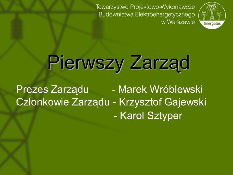 Pierwszy Zarząd Prezes Zarządu - Marek Wróblewski Członkowie Zarządu - Krzysztof Gajewski - Karol Sztyper
