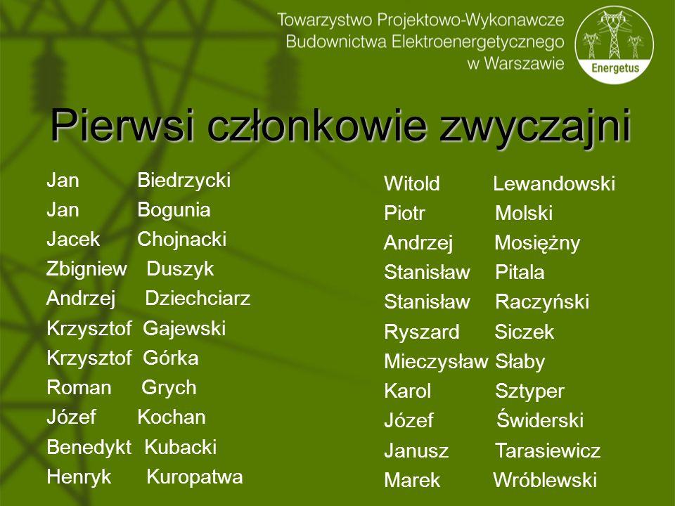 Pierwsi członkowie zwyczajni Jan Biedrzycki Jan Bogunia Jacek Chojnacki Zbigniew Duszyk Andrzej Dziechciarz Krzysztof Gajewski Krzysztof Górka Roman G