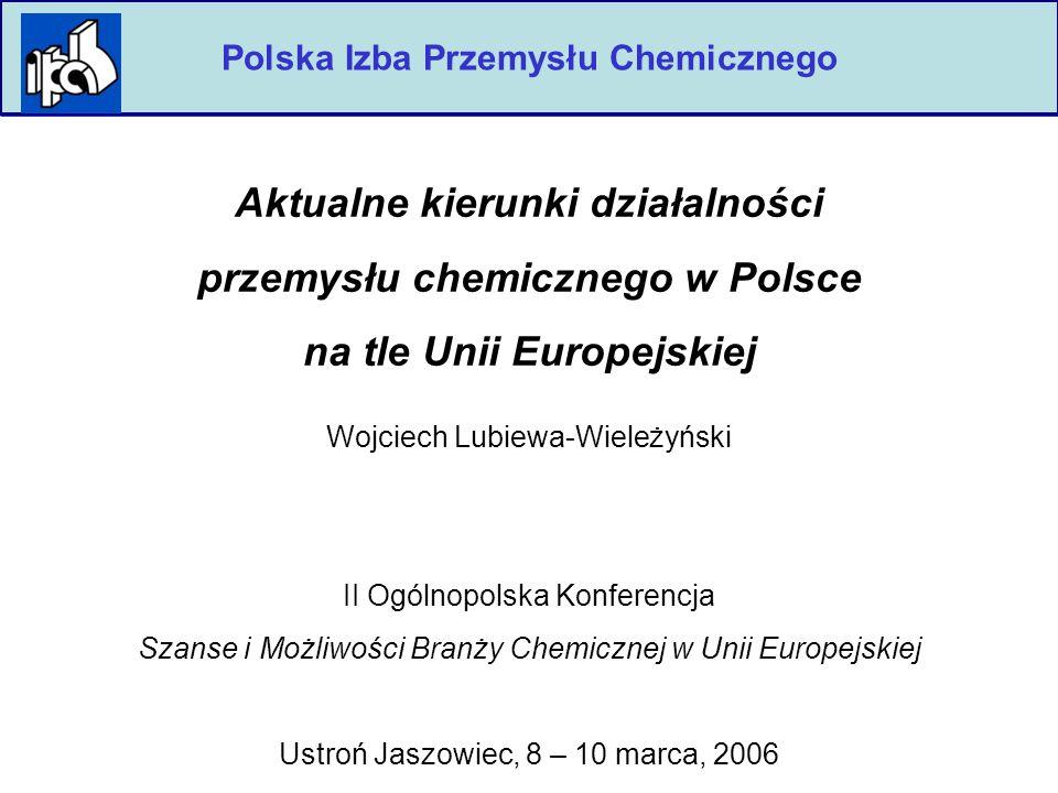 2 Polska Izba Przemysłu Chemicznego  Przemysł chemiczny w Polsce i UE w liczbach 3-6  Ścieżka rozwoju 7-8  Infrastruktura 9-11  Innowacje i rozwój (Platformy Technologiczne) 12-13  Jak dogonić Europę.