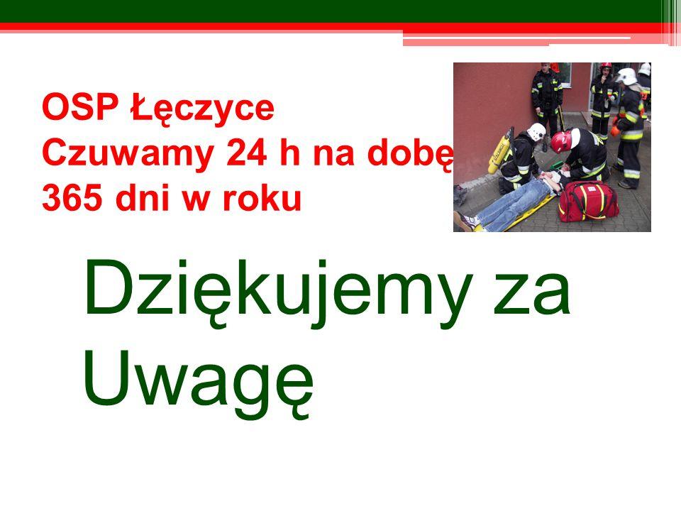 OSP Łęczyce Czuwamy 24 h na dobę 365 dni w roku Dziękujemy za Uwagę
