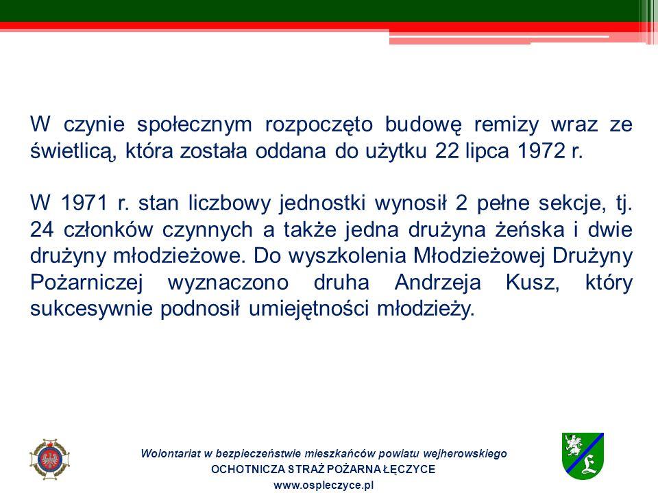 Wizyta przedszkolaków Wolontariat w bezpieczeństwie mieszkańców powiatu wejherowskiego OCHOTNICZA STRAŻ POŻARNA ŁĘCZYCE www.ospleczyce.pl