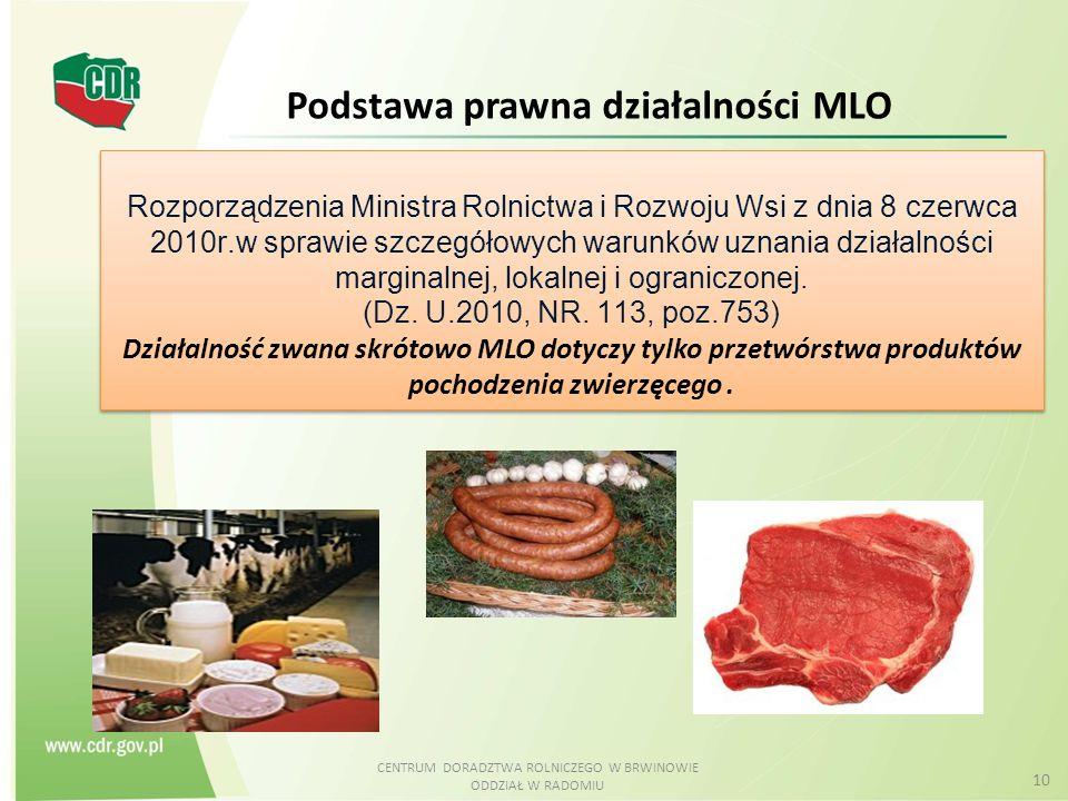 CENTRUM DORADZTWA ROLNICZEGO W BRWINOWIE ODDZIAŁ W RADOMIU 10 Rozporządzenia Ministra Rolnictwa i Rozwoju Wsi z dnia 8 czerwca 2010r.w sprawie szczegó