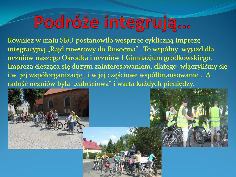 """Również w maju SKO postanowiło wesprzeć cykliczną imprezę integracyjną """"Rajd rowerowy do Rusocina ."""