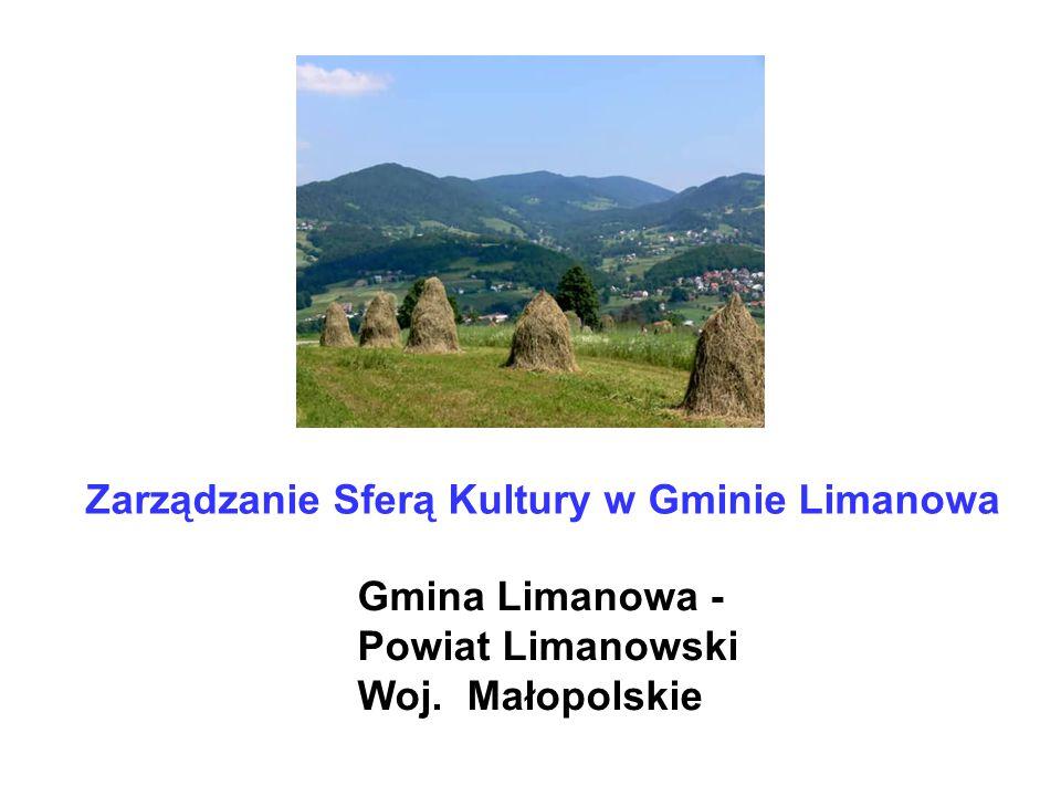 Zarządzanie Sferą Kultury w Gminie Limanowa Gmina Limanowa - Powiat Limanowski Woj. Małopolskie