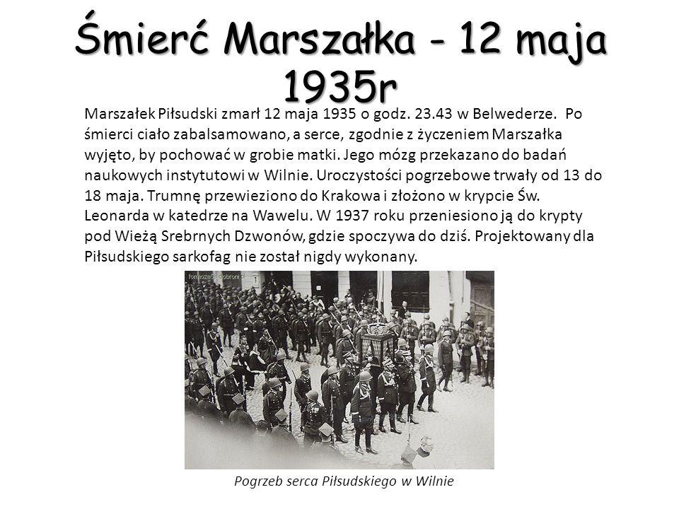 Przewrót Majowy Walki w Warszawie, z użyciem czołgów i artylerii, między oddziałami wiernymi rządowi, a wojskami Piłsudskiego trwały do 15 maja.