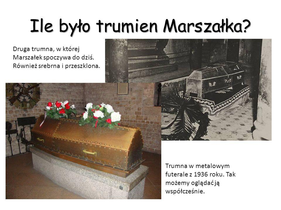 Ile było trumien Marszałka.Zachowane fotografie pokazują kilka różnych trumien.