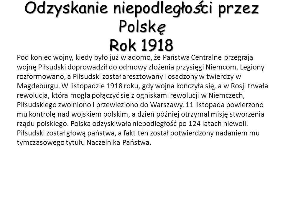 Legiony Polskie 1914-17 W roku 1914 wybuchła wojna austriacko-serbska, która dała początek I Wojnie Światowej.
