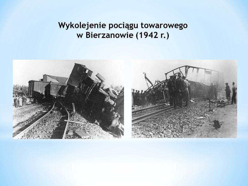 Wykolejenie pociągu towarowego w Bierzanowie (1942 r.)