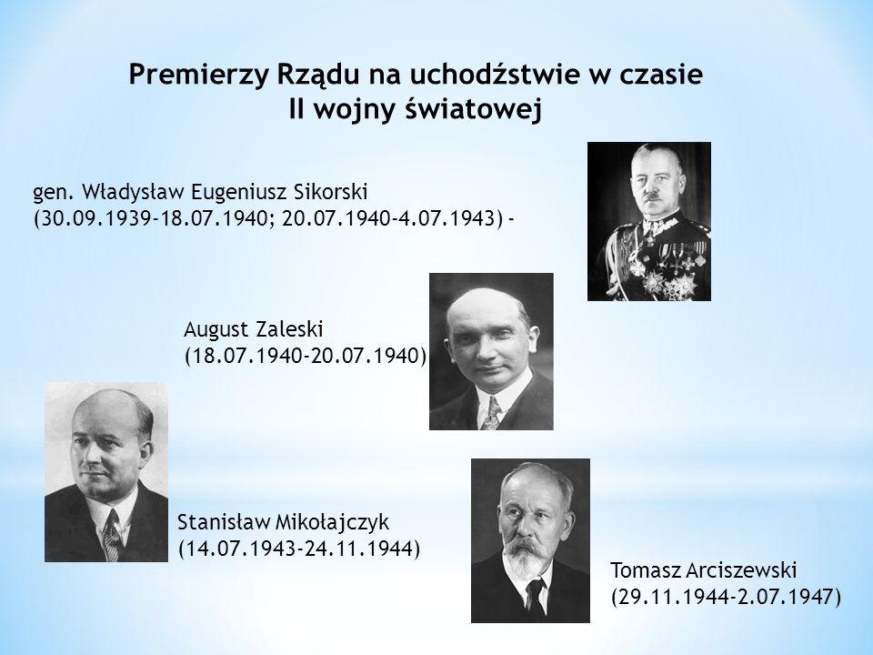 Premierzy Rządu na uchodźstwie w czasie II wojny światowej gen.