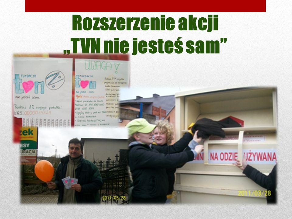 Rozszerzenie akcji,,TVN nie jesteś sam
