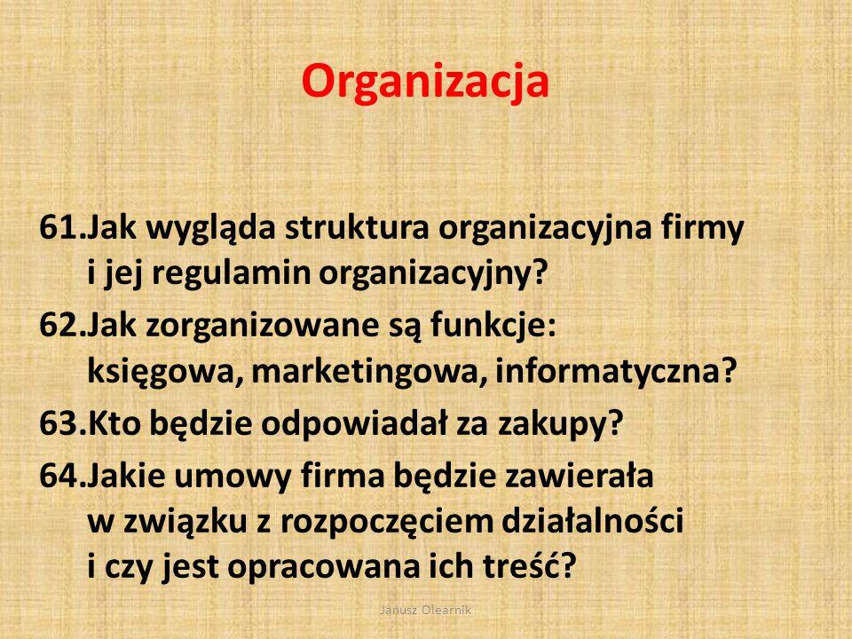 Zarządzanie 57.Kto tworzy team zarządzający firmą? 58. Właściciel(e), Dyrektor, szefowie poszczególnych odcinków (działów) Jak będzie opłacany zarząd
