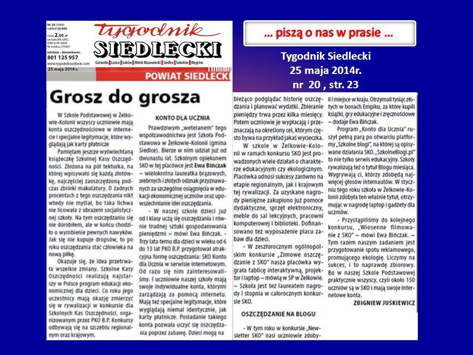 Tygodnik Siedlecki 25 maja 2014r. nr 20, str. 23