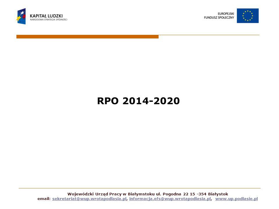 RPO 2014-2020 Wojewódzki Urząd Pracy w Białymstoku ul.