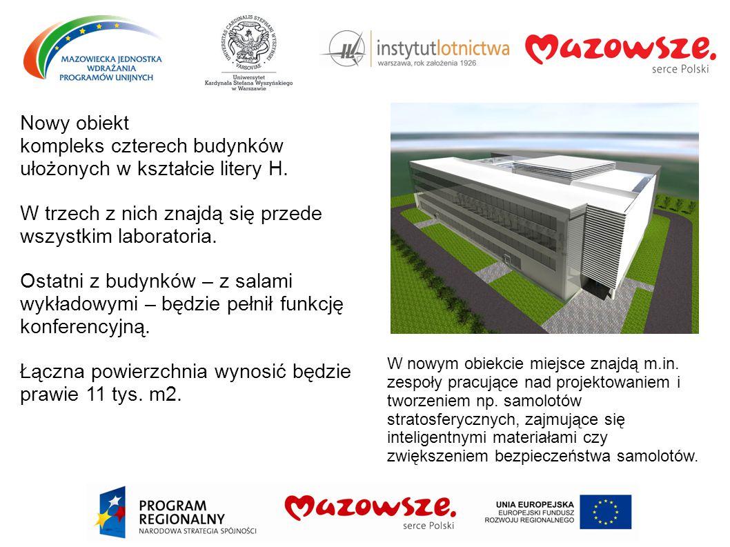 Nowy obiekt kompleks czterech budynków ułożonych w kształcie litery H. W trzech z nich znajdą się przede wszystkim laboratoria. Ostatni z budynków – z