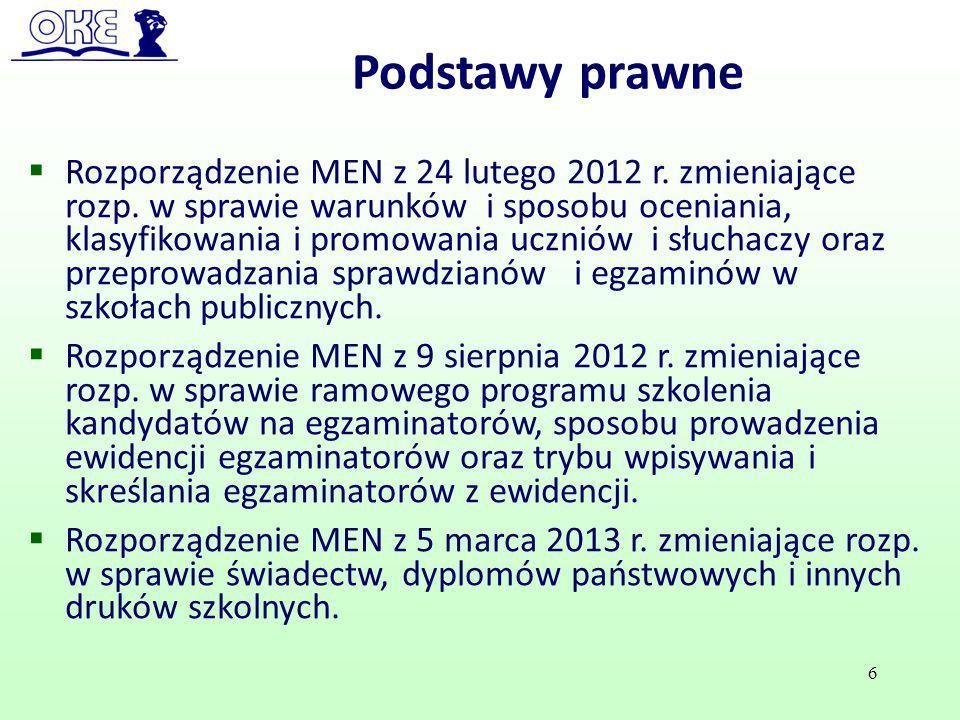  Rozporządzenie MEN z 24 lutego 2012 r. zmieniające rozp. w sprawie warunków i sposobu oceniania, klasyfikowania i promowania uczniów i słuchaczy ora