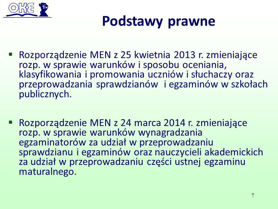  Rozporządzenie MEN z 25 kwietnia 2013 r. zmieniające rozp. w sprawie warunków i sposobu oceniania, klasyfikowania i promowania uczniów i słuchaczy o