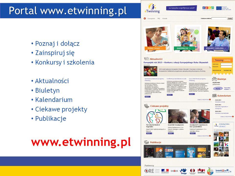 Portal www.etwinning.pl Portal www.etwinning.pl Poznaj i dołącz Zainspiruj się Konkursy i szkolenia Aktualności Biuletyn Kalendarium Ciekawe projekty Publikacje www.etwinning.pl