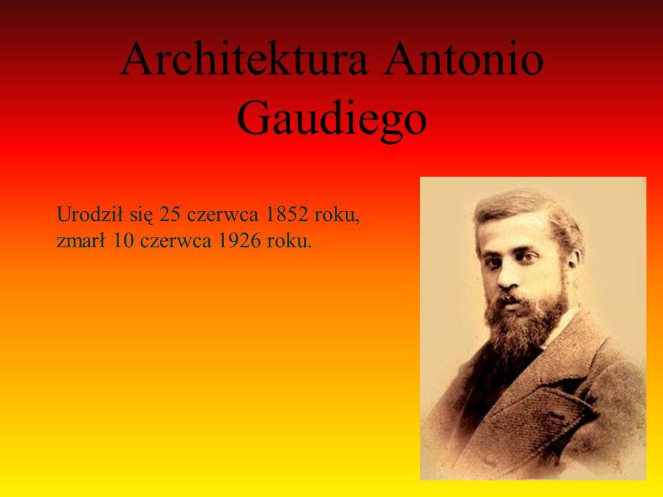 Studiował i działał w Barcelonie, gdzie powstałe większość jego budowli.