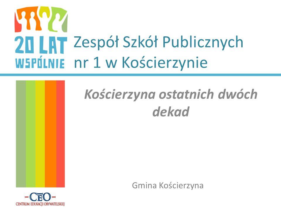 Zespół Szkół Publicznych nr 1 w Kościerzynie Kościerzyna ostatnich dwóch dekad Gmina Kościerzyna