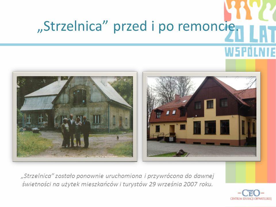 """""""Strzelnica przed i po remoncie."""