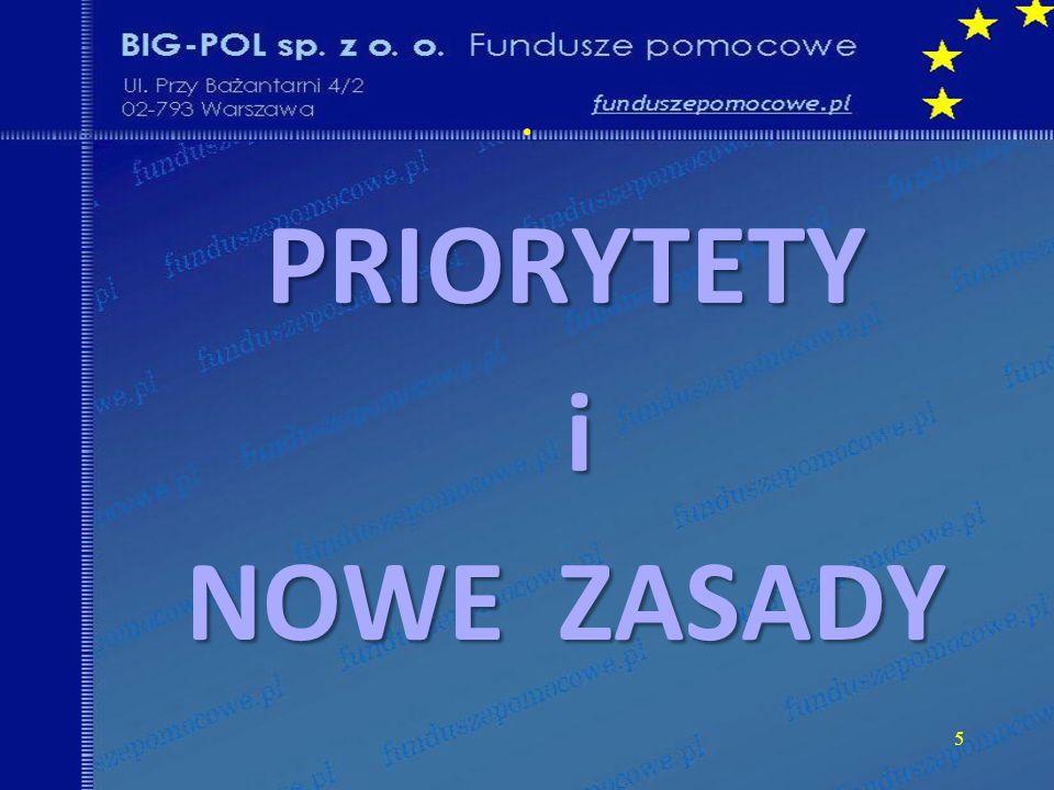 . 5 PRIORYTETY i NOWE ZASADY