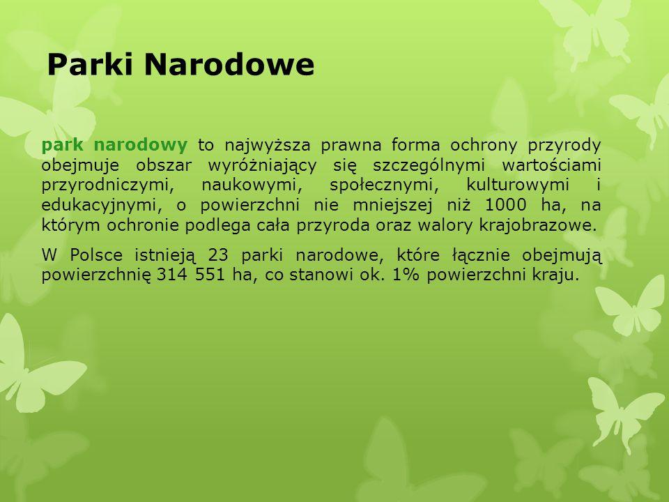 1.Babiogórski Park Narodowy (1954r.) 2. Białowieski Park Narodowy (1932r.) 3.