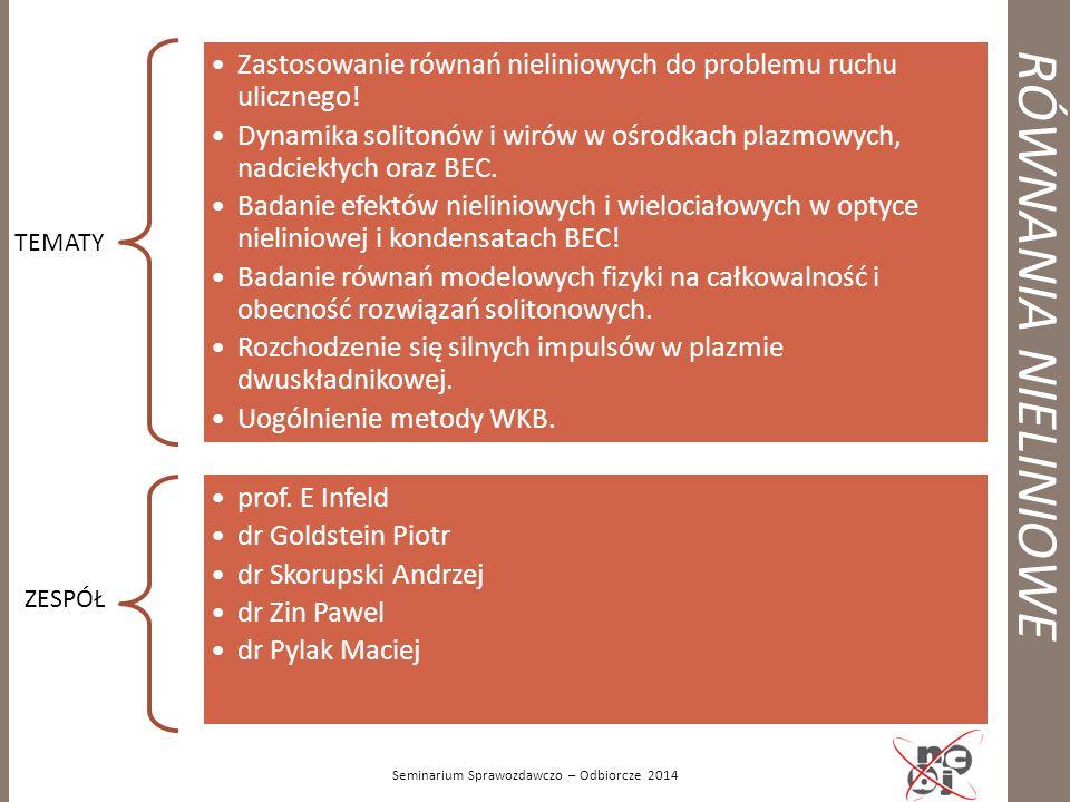 PUNKTY W ZAKLADZIE W 2012 -2014! Seminarium Sprawozdawczo – Odbiorcze 2014