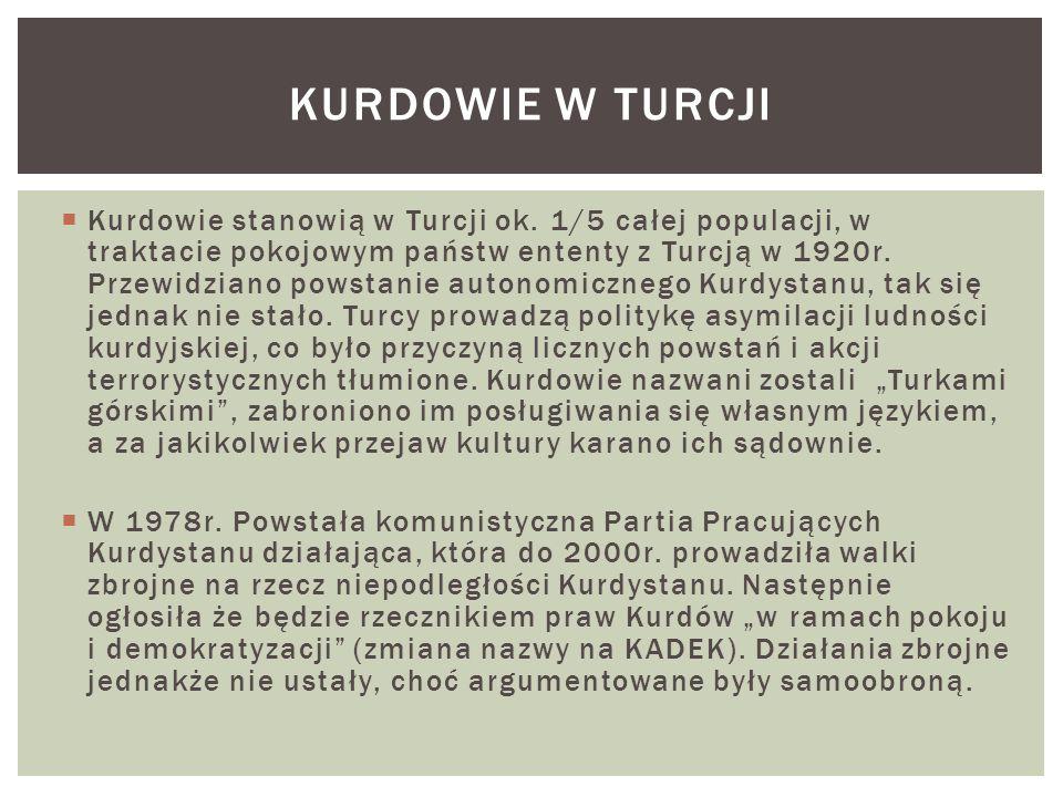  Kurdowie stanowią w Turcji ok.