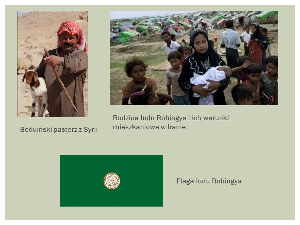 Beduiński pasterz z Syrii Flaga ludu Rohingya Rodzina ludu Rohingya i ich warunki mieszkaniowe w Iranie