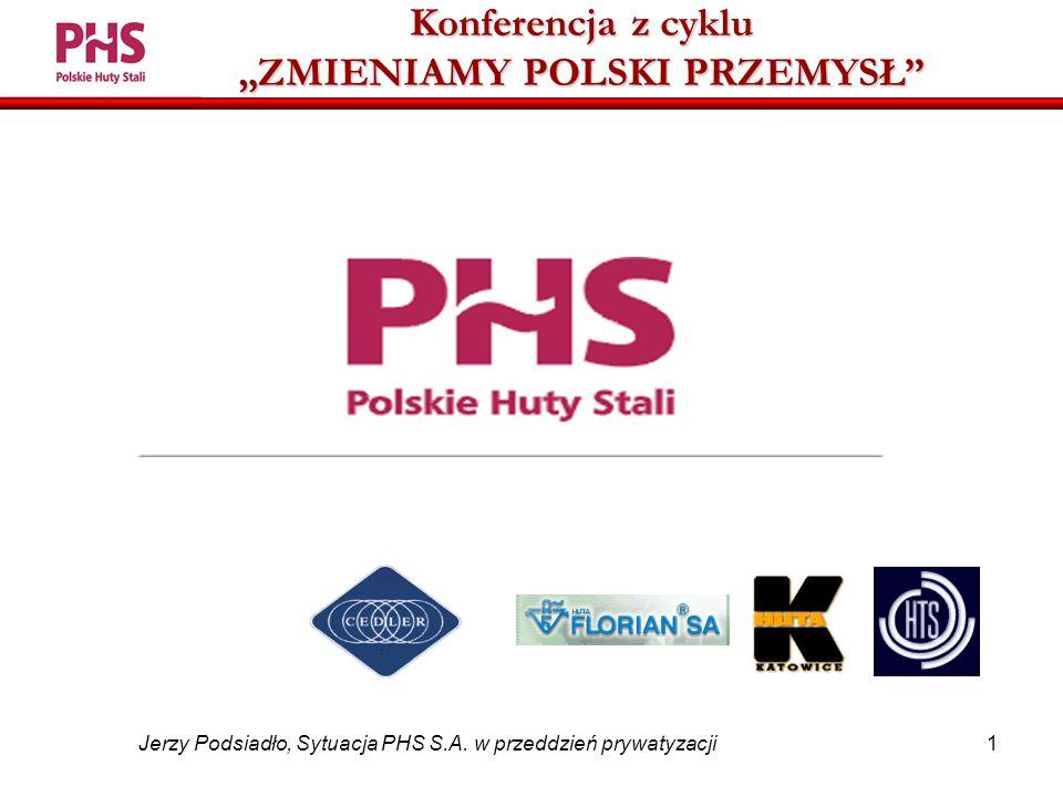 1 Jerzy Podsiadło, Sytuacja PHS S.A.