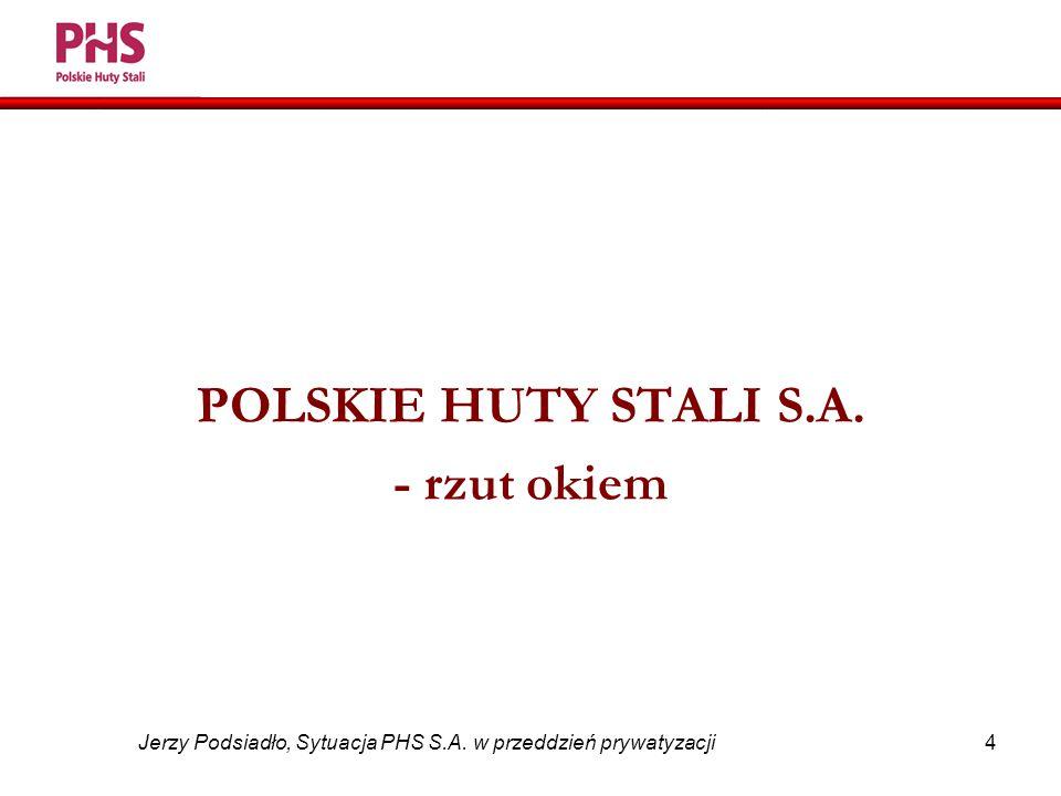 4 Jerzy Podsiadło, Sytuacja PHS S.A. w przeddzień prywatyzacji POLSKIE HUTY STALI S.A. - rzut okiem