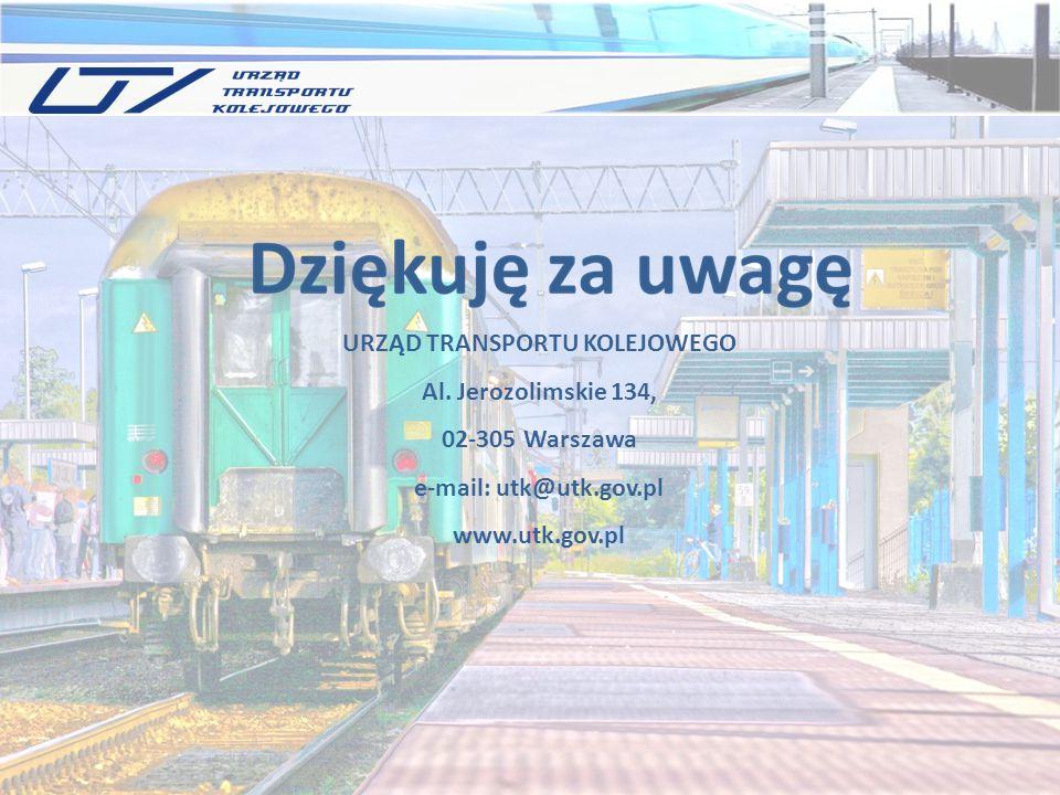 URZĄD TRANSPORTU KOLEJOWEGO Al. Jerozolimskie 134, 02-305 Warszawa e-mail: utk@utk.gov.pl www.utk.gov.pl