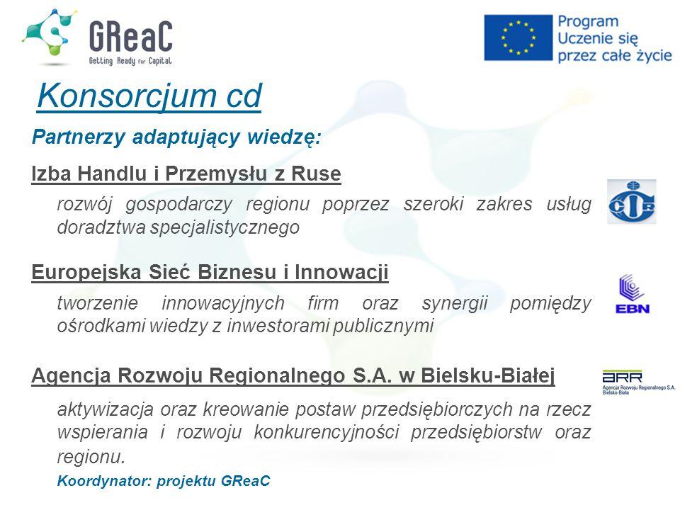 Konsorcjum cd Partnerzy adaptujący wiedzę: Izba Handlu i Przemysłu z Ruse rozwój gospodarczy regionu poprzez szeroki zakres usług doradztwa specjalist