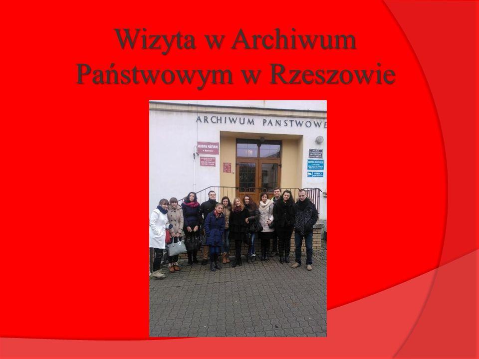 Wizyta w Archiwum Państwowym w Rzeszowie
