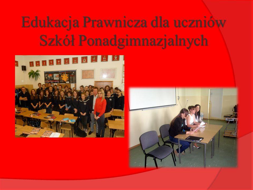 Edukacja Prawnicza dla uczniów Szkół Ponadgimnazjalnych