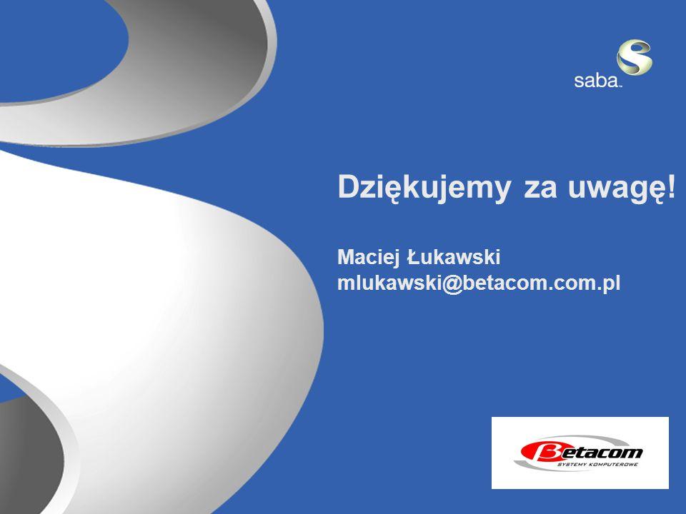26 Dziękujemy za uwagę! Maciej Łukawski mlukawski@betacom.com.pl