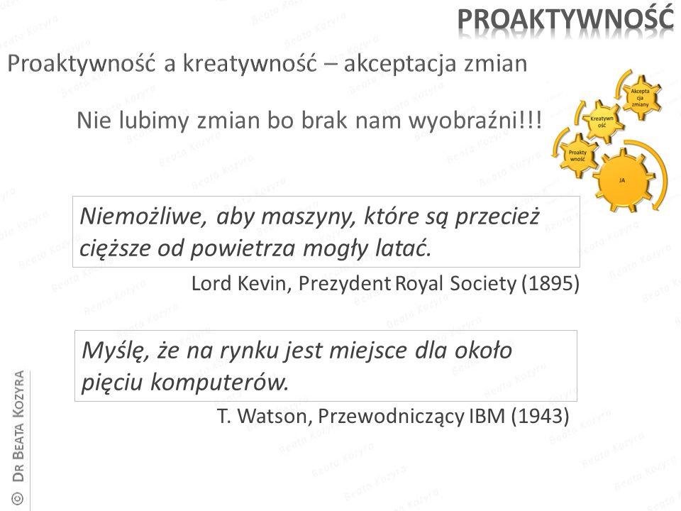Myślę, że na rynku jest miejsce dla około pięciu komputerów. Lord Kevin, Prezydent Royal Society (1895) T. Watson, Przewodniczący IBM (1943) Niemożliw