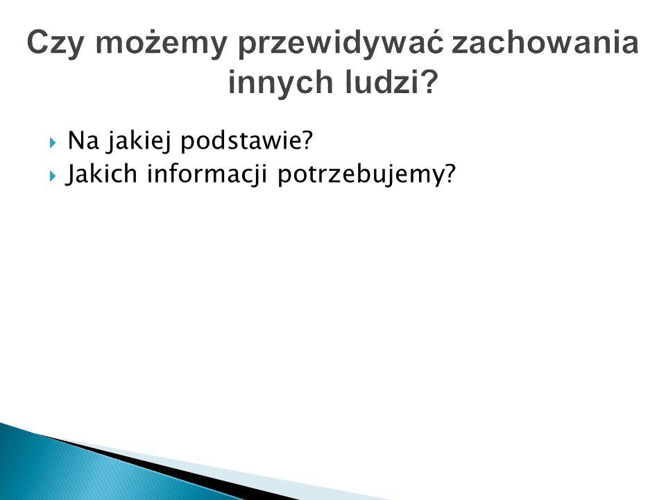  Na jakiej podstawie?  Jakich informacji potrzebujemy?