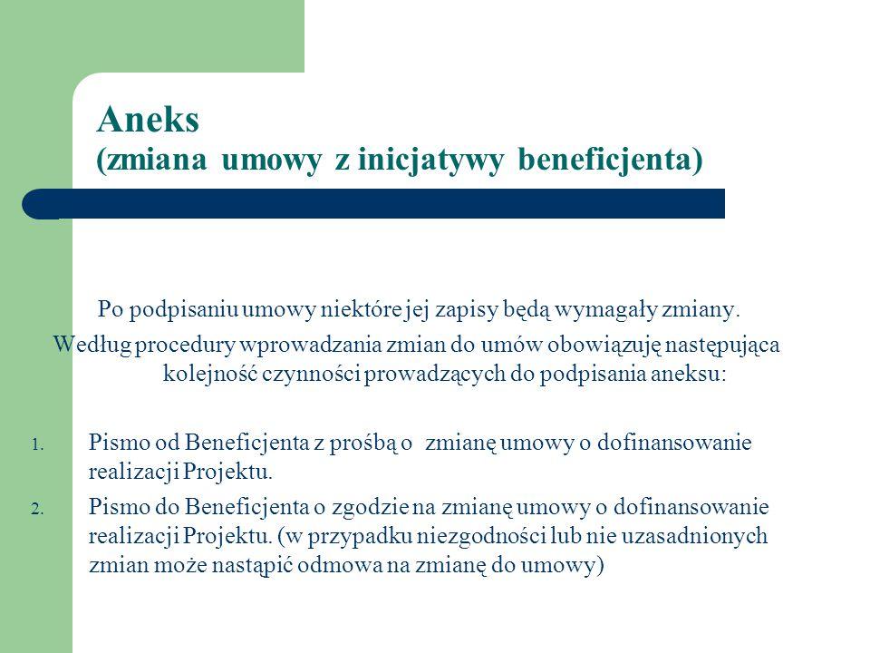 ANEKS cd.1. Sporządzenie aneksu do umowy. 2.