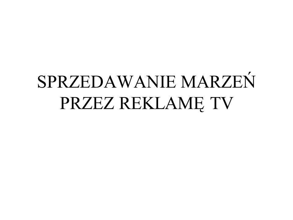 SPRZEDAWANIE MARZEŃ PRZEZ REKLAMĘ TV
