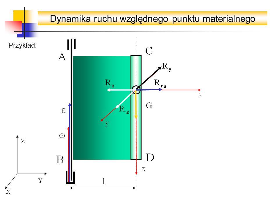 Dynamika ruchu względnego punktu materialnego Przykład: