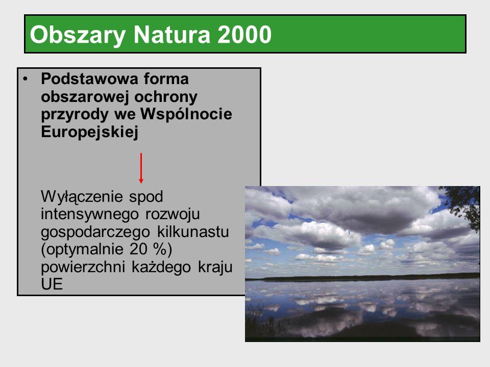Obszary Natura 2000 Podstawowa forma obszarowej ochrony przyrody we Wspólnocie Europejskiej Wyłączenie spod intensywnego rozwoju gospodarczego kilkuna