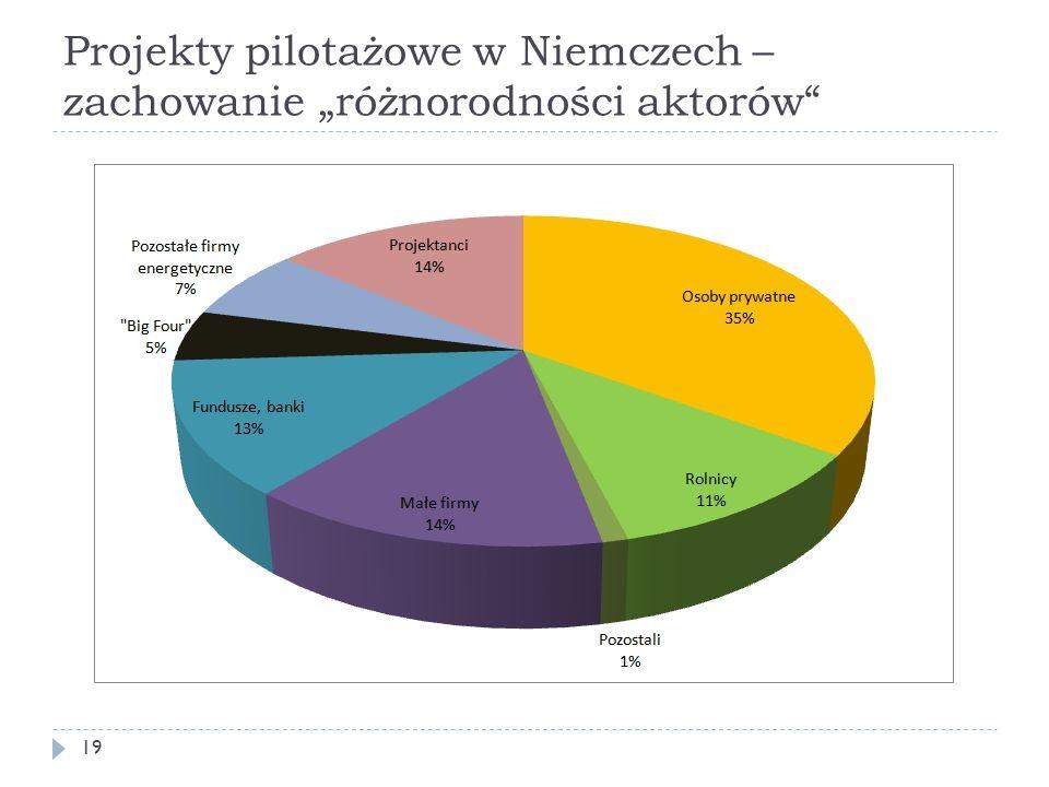 """Projekty pilotażowe w Niemczech – zachowanie """"różnorodności aktorów"""" 19"""