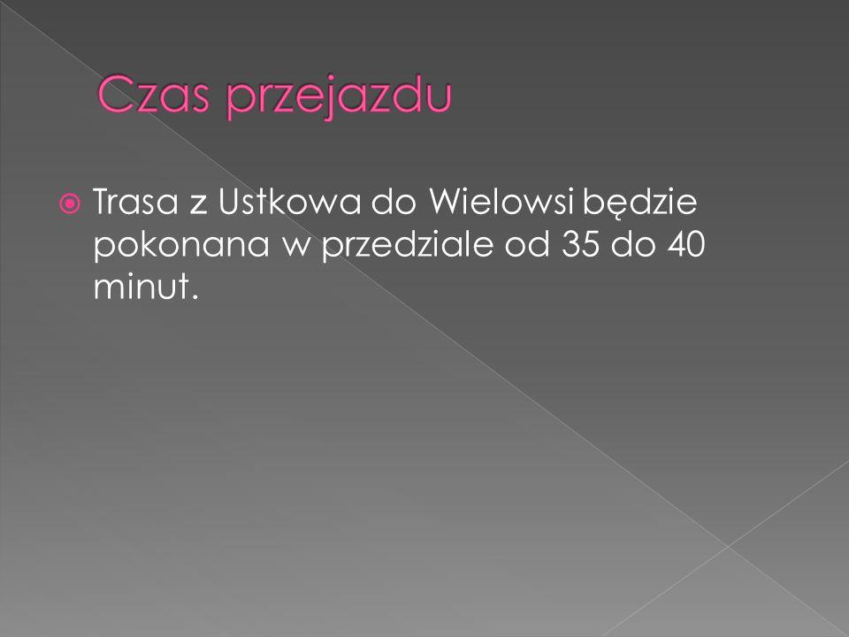  Trasa z Ustkowa do Wielowsi będzie pokonana w przedziale od 35 do 40 minut.