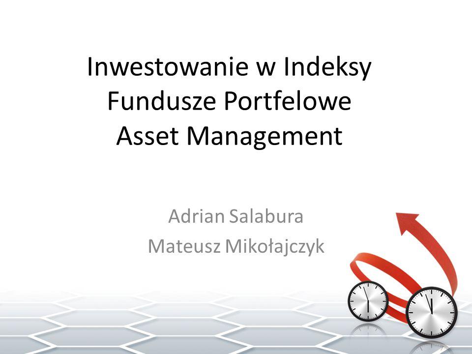 Jednostki indeksowe (MiniWig20) instrument pochodny -służy inwestowaniu w indeksy giełdowe bez potrzeby nabywania akcji spółek zmienia wartość podobnie do bazowego indeksu giełdowego (WIG20) umożliwia inwestycję równoważną nabyciu całego portfela danego indeksu bez konieczności zakupu akcji wchodzących w skład tego indeksu.