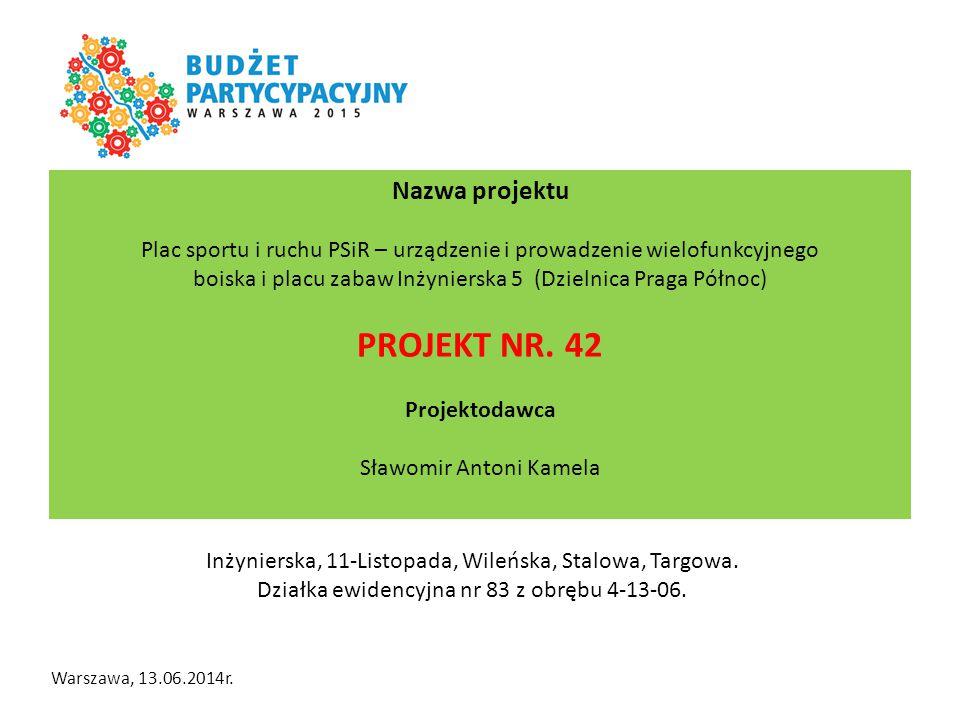 Lokalizacja terenu objętego propozycją projektu: Inżynierska, 11-Listopada, Wileńska, Stalowa, Targowa. Działka ewidencyjna nr 83 z obrębu 4-13-06. Na